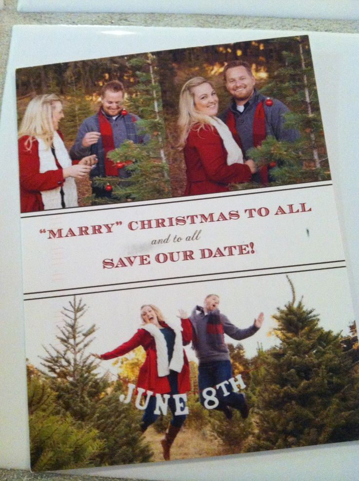 Christmas Save The Date Cards.Christmas Cards Wedded Thank Yous And Save The Dates